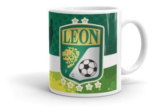 Taza De Cafe Club Leon Guanajuato Productos Futbol Mexicano Articulos Regalos Cosas Accesorios Taza Sublimada