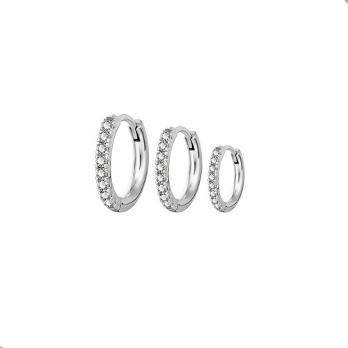 Imagen 1 de 3 de Argollitas Escalas Cristales Por Unidad Piercing Argentina ®