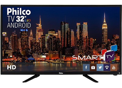 Smart Tv Led 32 Philco Ph32b51dsgwa Hd Com Conversor Digita