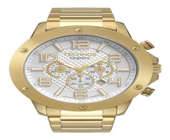 Relógio Technos Masculino Esportivo Legacy Dourado Js26at/4b