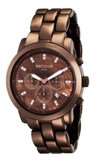 Relógio Seculus Feminino Moda 24789lpsgma3