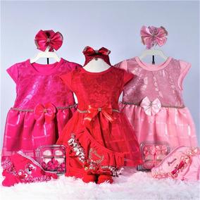 Vestidinho Para Bebe Kit 4 Peças