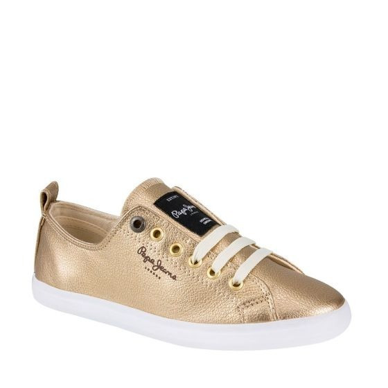 Tenis Casual Pepe Jeans Arry Id 141037 Oro Para Dama