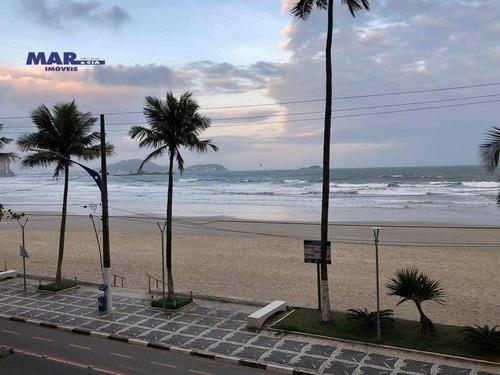 Imagem 1 de 19 de Apartamento À Venda Na Praia Das Astúrias, Frente Ao Mar, 210 Metros De Área Útil, 02 Vagas De Garagem E Lazer. - Ap10880