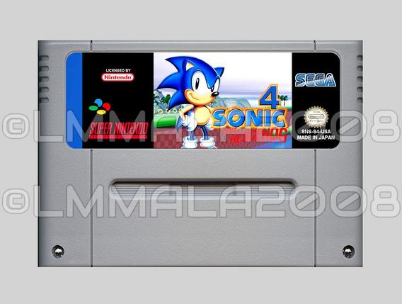 Original Sonic Hedgehog 4 Português Hack Snes Super Nintendo