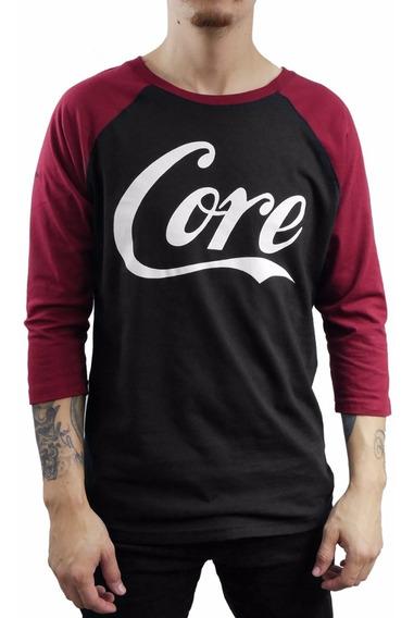 Playera Core Raglan Negra Beisbol Trasher Coca Cola Tenis