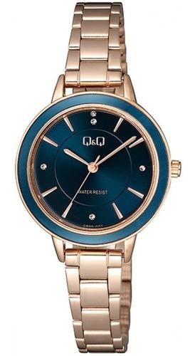 Reloj Q&q Mujer Coleccion De Lujo Oro Rosa