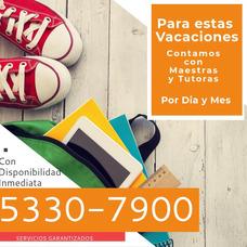 Tutoras Y Maestras A Tu Disposición.contactanos Al 5330-7900
