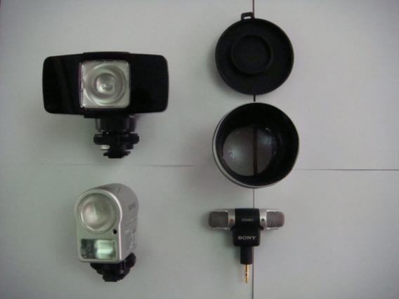 Acessorios Filmadoras Sony 4 Itens Originais Usados P-21