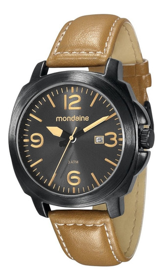 Relógio Mondaine Análogo Pul. Couro Calendário 76344gpmvph2