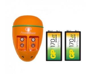 Cargador Pila 9v Gp Con Baterias 9v Recargables
