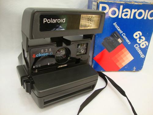 Antiga Camera Polaroid 636 Closeup Na Caixa Anos 80
