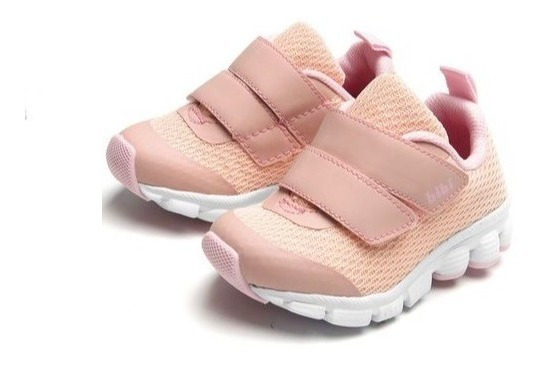 Tênis Infantil Bibi Feminino Rosa Velcro 824437