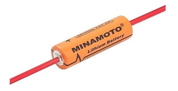 10-baterias Er14505 Aa 3,6v 2400mah Terminal Axial Minamoto