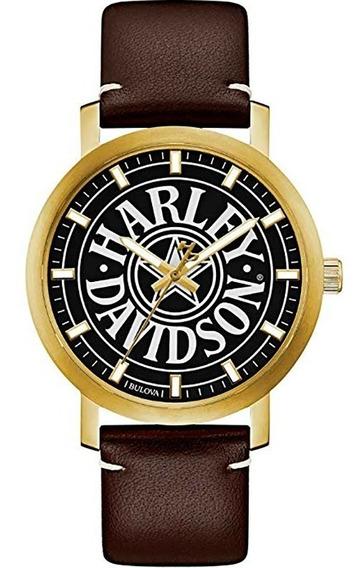 Reloj Harley Davidson Para Hombre Original 77a100