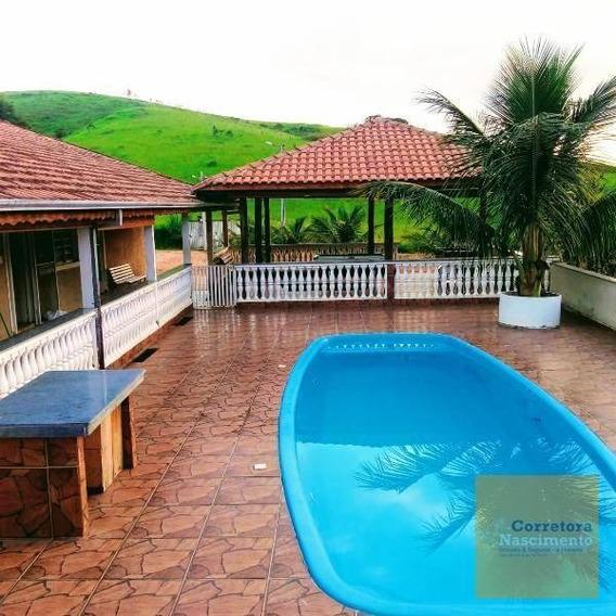 Ch0050 - Sítio Com 3 Dormitórios À Venda, 48.400 M² Por R$ 520.000 - Jardim Colônia - Jacareí/sp - Ch0050