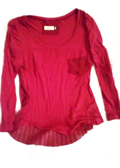 Aurojul-blusa-remera -espalda Plisada Tranparente