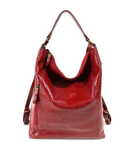 Mochila Mujer Xl Extra Large Clorinda Rojo
