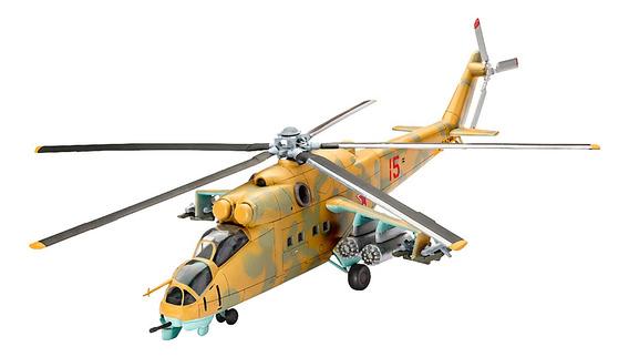 Plastimodelismo Revell Helicóptero Mil Mi-24d Hind 1/100