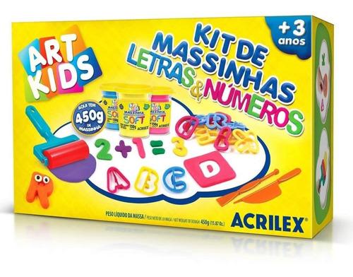 Imagem 1 de 1 de Kit De Massinhas Acrilex Art Kids Letras E Números 40046