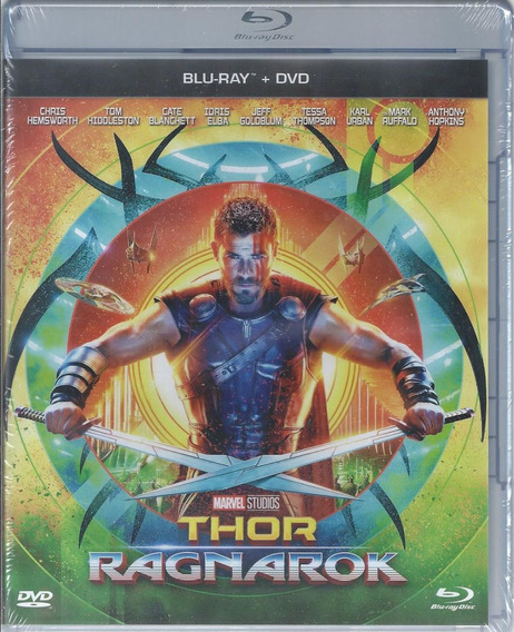 Thor Ragnarok Blu-ray + Dvd + Slipcover