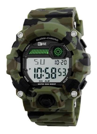 Reloj Revive Kr0718 Verde Hombre