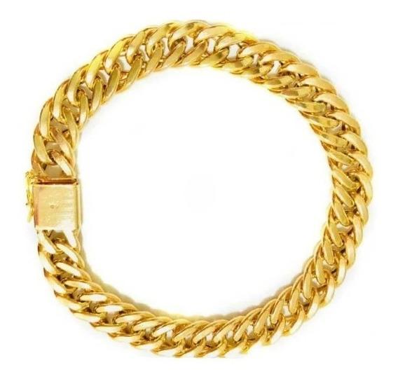 Pulseira Ouro Elo Grumet Masculina Ouro 18k Grossa 21g