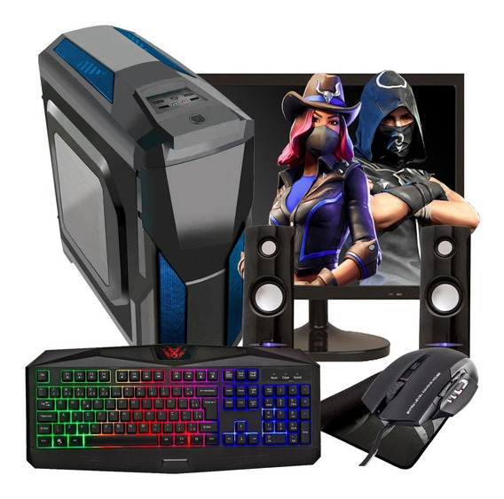 Pc Gamer 8gb Ram Hd 500gb Gt Ddr5 Monitor 19 Kit Gamer