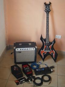 Guitarra Bc Rich, Amplificador 30w, Pedalera Zoom 1010