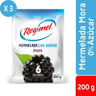Pack 3 - Regimel Mermelada 0% Azucar Mora 250 G