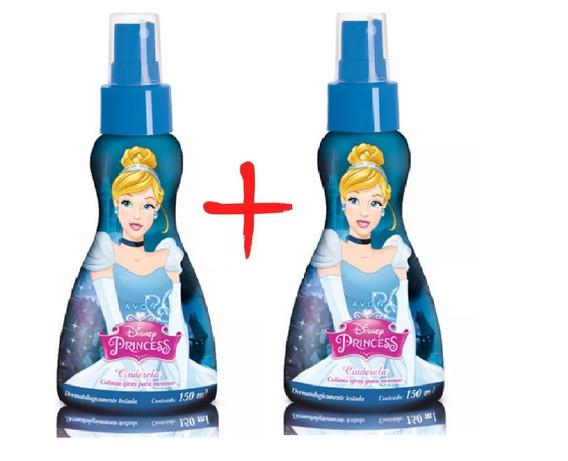 Kit 2 Colonias Spray Cinderela Perfume Infantil Avon 150 Ml