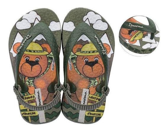Chinelo Ipanema Urso Baby Verde 017339 19