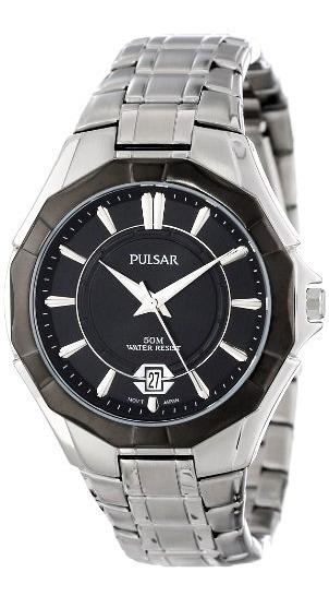 Relógio Masculino Original Prata Preto Promoção Novo Nf