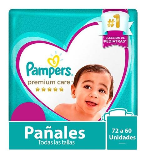 Imagen 1 de 10 de 1 Paquete Pañales Pampers Premium Care Todas Las Tallas