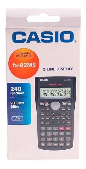 Calculadora Científica Fx-82ms Casio 240 Funções Hard Case