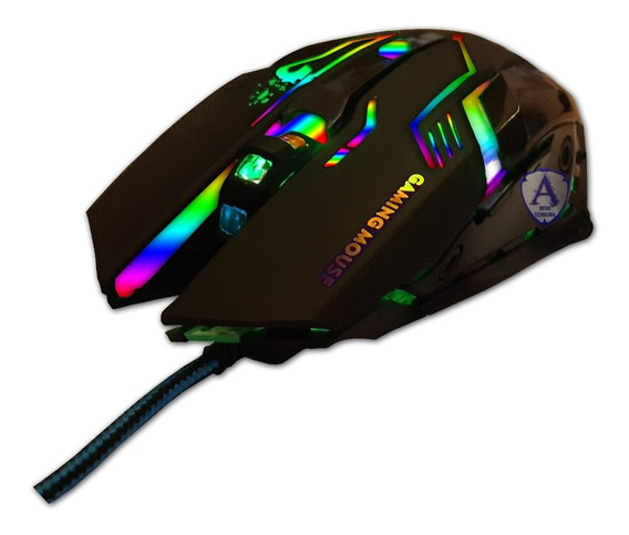 Mouse Gamer Leds Multicores 3200 Dpi 6 Botões Usb