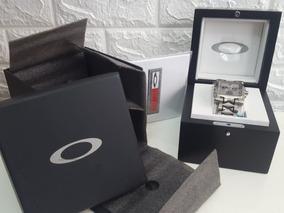 Relogio Oakley Time Tank Minute Machine Titanium Lacres Novo
