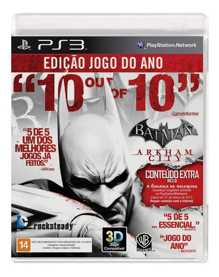 Batman Arkham City - Ps3 - Mídia Física