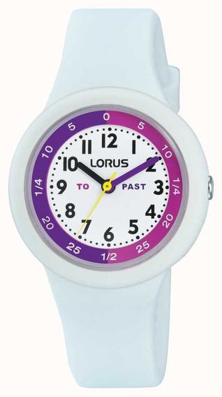 Reloj Lorus By Seiko Rrx95ex9 Niñas Silicona Quartz Blanco
