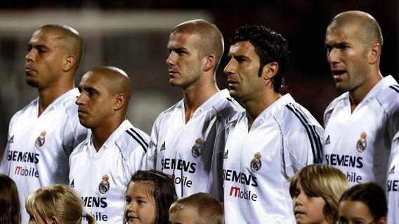 Pelota Fútbol Firmada Por Los Galácticos Del Real Madrid