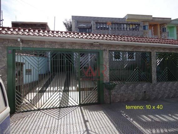 Terreno 10x40 Com Casa Antiga - Excelente Para Construção - So0488