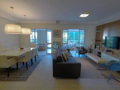 Apartamento Com 4 Dorm., 4 Vagas À Venda, 192 M² - Central Park Em Frente Praça Jardim Aquarius - Sjcampos/sp - Ap1787