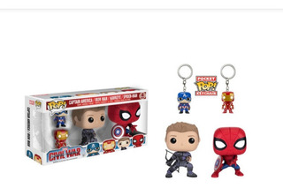 Funko Pop Civil War Pack X4