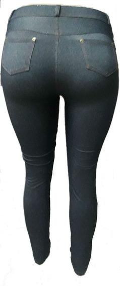 Calza Simil Jeans Termica Semi Chupin U Oxford Xxxxl