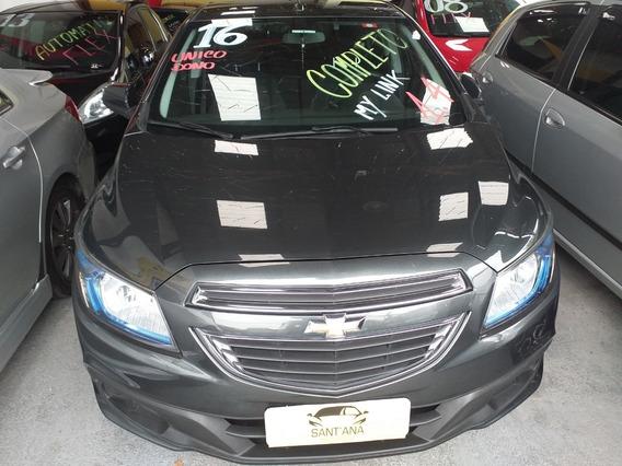Chevrolet Onix 1.4 Lt 5p Cinza Completo Com My Link