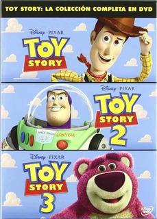Toy Story 1 2 Y 3 Formato Dvd Trilogía Disney Pixar Pack 3