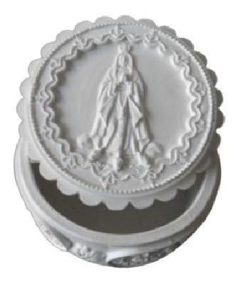 Porta Jóias Nossa Senhora Em Resina Med 7,5x7,5