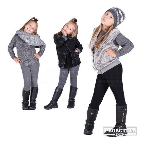 Calzas Termicas Frisadas Para Nenas Niñas Por Talles