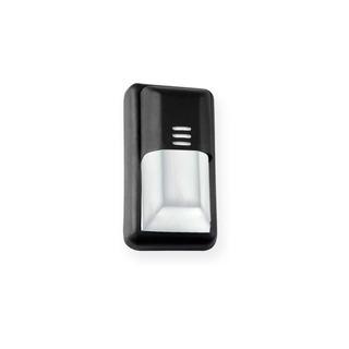 Tortuga Aplique Rectangular Negro E27 1 Luz Con Protección