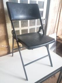 Cadeira Dobravel Estrutura De Ferro Assento E Encosto Em Pp